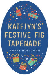 Festive Gifts tall oval labels