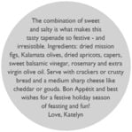 Festive Gifts circle text labels