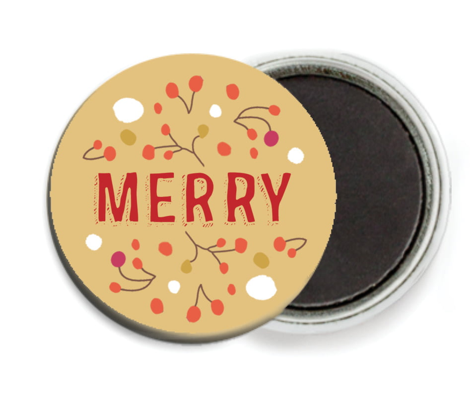 custom button magnets - deep gold - festive gifts (set of 6)