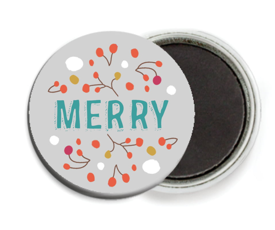 custom button magnets - stone - festive gifts (set of 6)