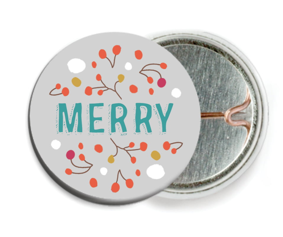 custom pin back buttons - stone - festive gifts (set of 6)