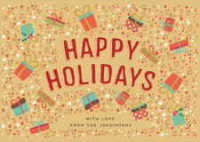 holiday cards - deep gold - festive gifts (set of 10)