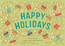 holiday cards - green tea - festive gifts (set of 10)