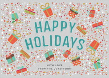 holiday cards - stone - festive gifts (set of 10)
