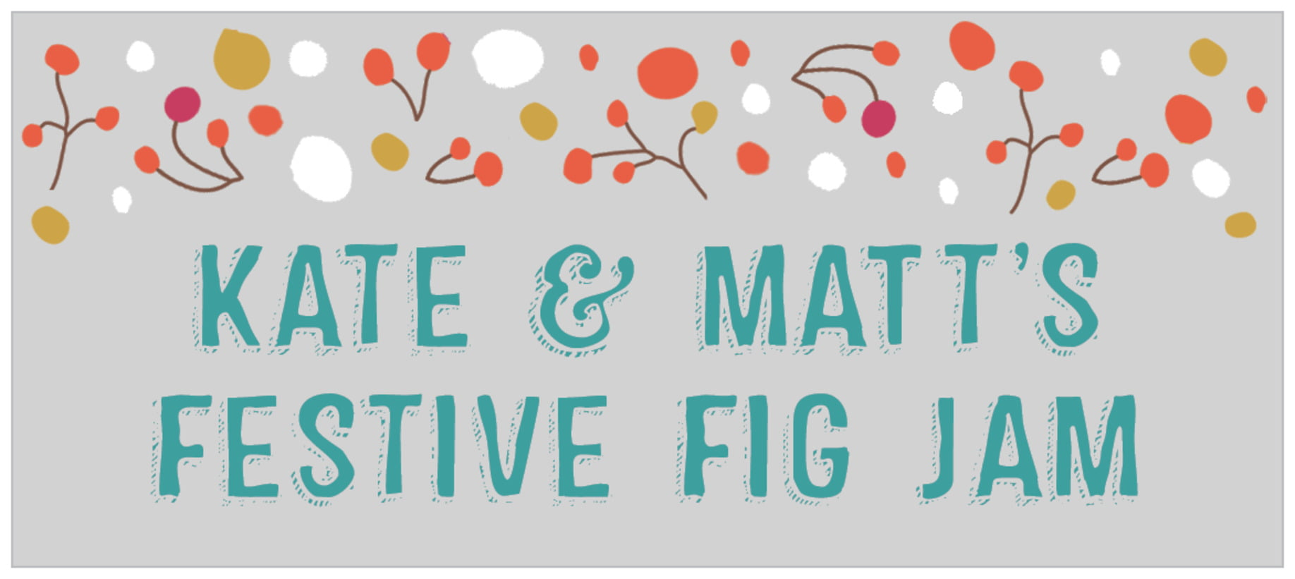 small rectangle food/craft labels - stone - festive gifts (set of 24)