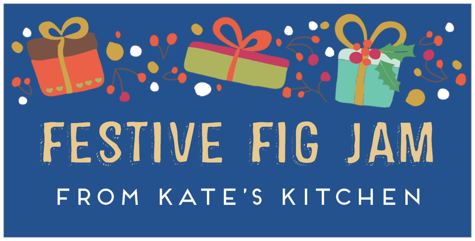 small rectangular food/craft labels - deep blue - festive gifts (set of 24)