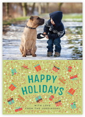Festive Gifts photo cards - vertical