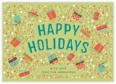 Festive Gifts photo cards - horizontal