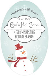 Frosty tall oval labels