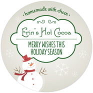 Frosty large circle labels
