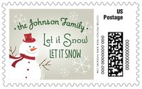 Frosty large postage stamps