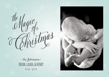 holiday cards - ice blue - frosty (set of 10)