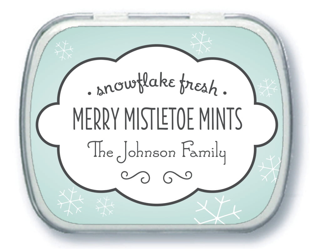 holiday mint tins - ice blue - frosty (set of 24) TNFR29-11