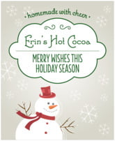 Frosty food/craft labels