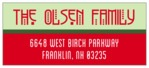 Festive Stripes designer address labels