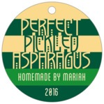 Festive Stripes circle hang tags