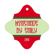 Festive Stripes fancy diamond hang tags