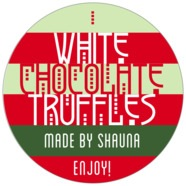 Festive Stripes large circle labels