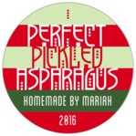Festive Stripes circle labels