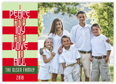 Festive Stripes photo cards - horizontal