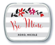 Floral Heart Mint Tin In Stone
