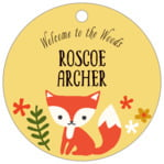 Forest Fox circle hang tags