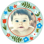 Forest Fox circle photo labels
