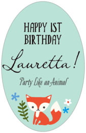 Forest Fox tall oval labels