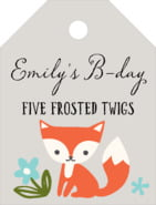Forest Fox small luggage tags