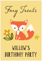 Forest Fox tall rectangle labels