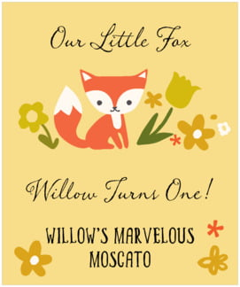 Forest Fox large labels