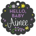 Floral Baby scallop hang tags