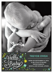 Floral Baby baby announcements