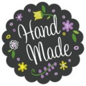 Floral Baby scallop labels