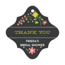Floral Baby bridal shower tags