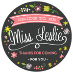 Floral Baby circle labels