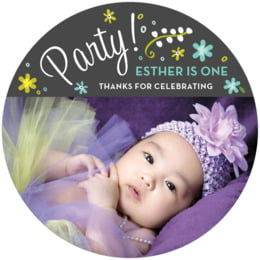 Floral Baby round coasters