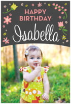 Floral Baby tall rectangle labels
