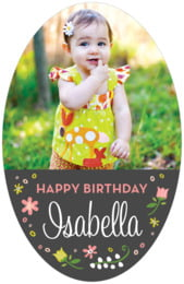 Floral Baby tall oval labels