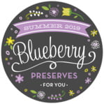 Floral Baby Circle Label In Purple