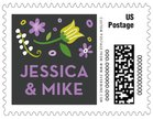 Floral Baby small postage stamps