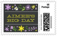 Floral Baby large postage stamps