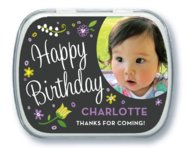 Floral Baby Mint Tin In Purple