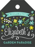 Floral Baby small luggage tags