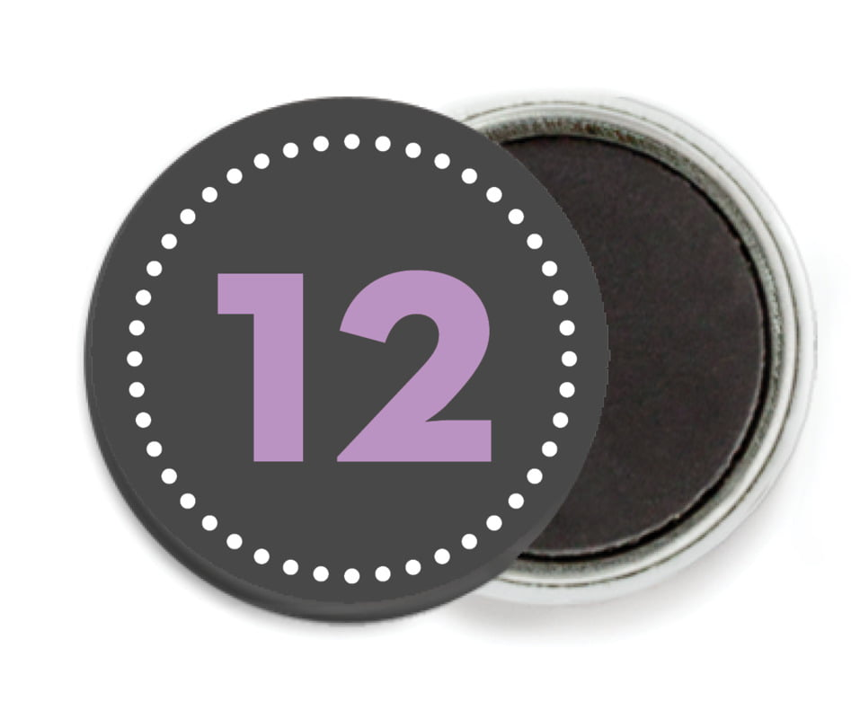 custom button magnets - purple - floral baby (set of 6)