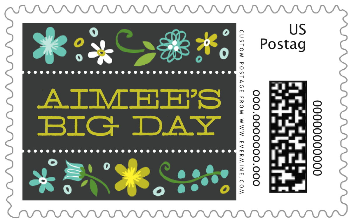 custom large postage stamps - aruba - floral baby (set of 20)