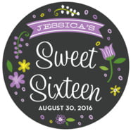 Floral Baby large circle labels