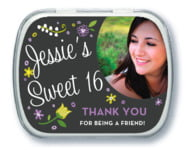 Floral Baby sweet sixteen mint tins