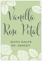 Floral Bliss bath and body labels