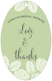 Floral Bliss large oval hang tags